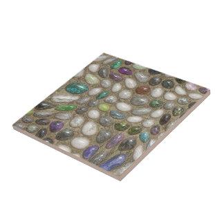 カラフルで模造のな光沢がある3D川の石はパターンに投石します タイル
