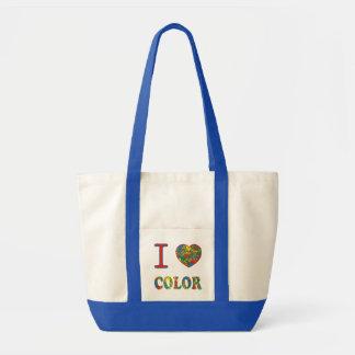 カラフルで熱い混乱の送風数々のな色のしぶきの虹 トートバッグ