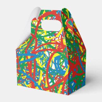 カラフルで熱い混乱の送風数々のな色のしぶきの虹 フェイバーボックス