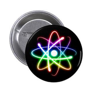 カラフルで白熱[赤熱]光を放つな原子|のギークのカッコいいのギフト 5.7CM 丸型バッジ