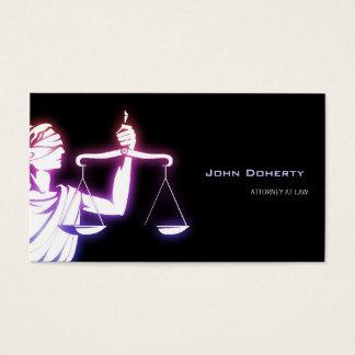 カラフルで白熱[赤熱]光を放つなTemidaの記号 弁護士 名刺