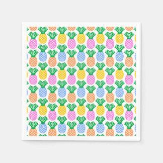 カラフルで粋なパイナップルパターン スタンダードカクテルナプキン