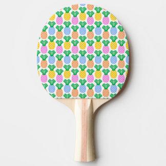 カラフルで粋なパイナップルパターン 卓球ラケット