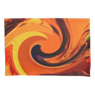 カラフルで美しい抽象美術の金ゴールドの渦巻 枕カバー