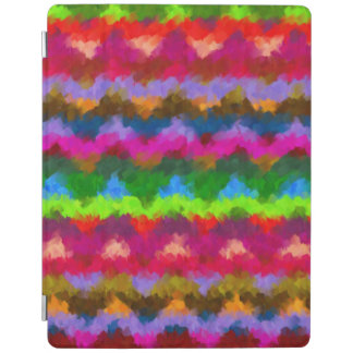 カラフルで色彩の鮮やかなシェブロンのストライプの抽象芸術 iPadスマートカバー