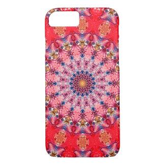 カラフルで赤く、ピンクの曼荼羅 iPhone 8/7ケース