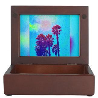 カラフルで青いフロリダの記念品箱 ジュエリーボックス