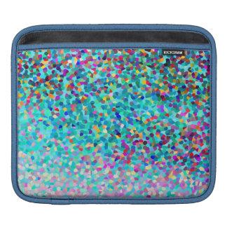 カラフルで青い多彩の抽象美術パターン iPadスリーブ