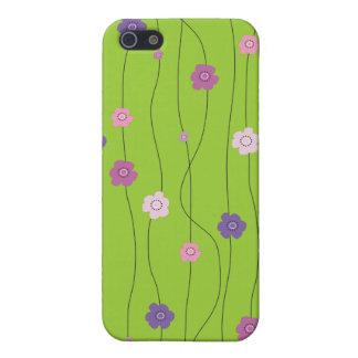 カラフルで風変わりな花のつる植物 iPhone 5 カバー