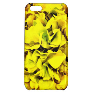 カラフルで黄色いアジサイの花の花弁の花柄 iPhone5C カバー