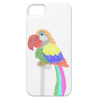 カラフルなおしゃべりオウム iPhone SE/5/5s ケース