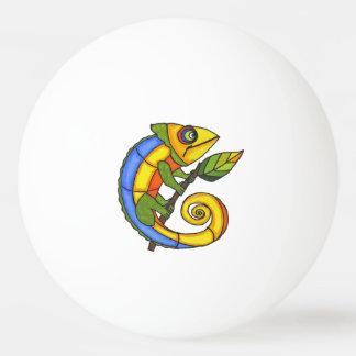 カラフルなおもしろいのトカゲの枝点 卓球ボール