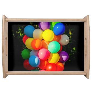 カラフルなおもちゃの気球 トレー