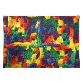 カラフルなかぎ針編み ランチョンマット