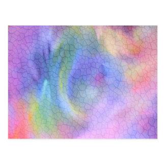 カラフルなひびの抽象芸術 ポストカード