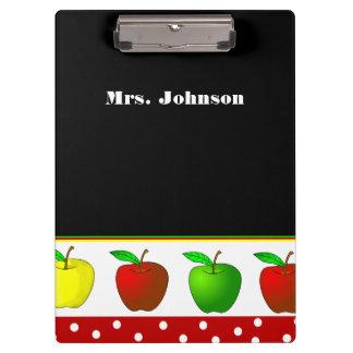 カラフルなりんごの先生のクリップボード クリップボード