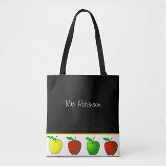 カラフルなりんごの先生のトートバック トートバッグ