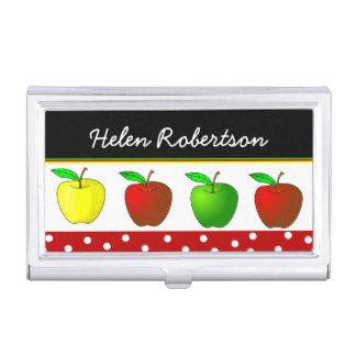 カラフルなりんごの先生の名刺ケース 名刺入れ