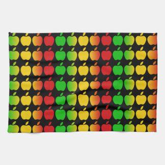 カラフルなりんごの台所タオル キッチンタオル