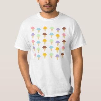 カラフルなアイスクリームコーン Tシャツ