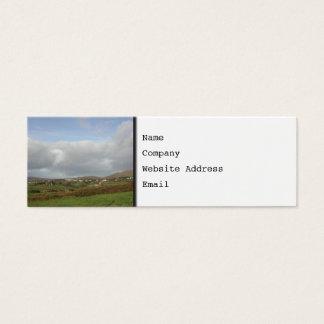 カラフルなアイルランドの村場面 スキニー名刺