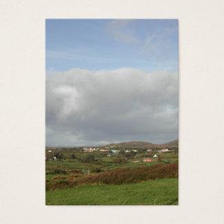 カラフルなアイルランドの村場面 名刺