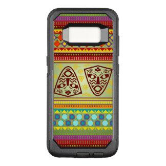 カラフルなアフリカのマスクパターン オッターボックスコミューターSamsung GALAXY S8 ケース