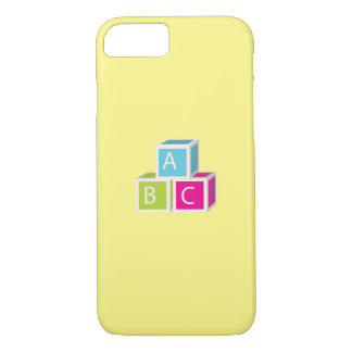 カラフルなアルファベットのブロック iPhone 8/7ケース