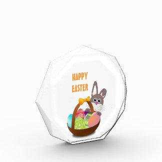 カラフルなイースターのウサギおよび卵 表彰盾