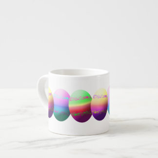 カラフルなイースターエッグのエスプレッソのマグ エスプレッソカップ