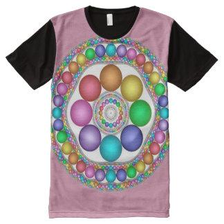カラフルなイースター精神の曼荼羅の芸術 オールオーバープリントT シャツ