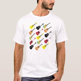カラフルなウクレレのコレクションのワイシャツ Tシャツ