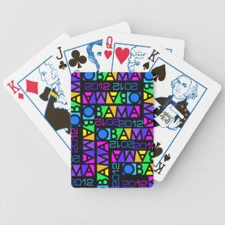 カラフルなオバマ2012年の遊ぶカード バイスクルトランプ