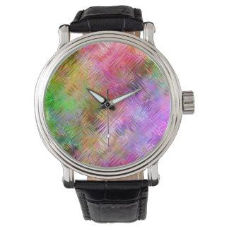 カラフルなオパールのガラス状の質 腕時計