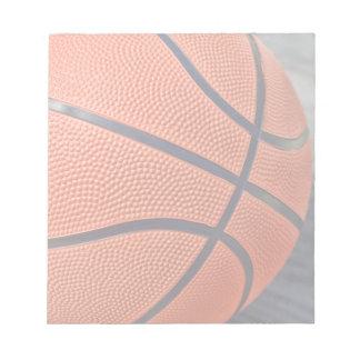 カラフルなオレンジバスケットボール ノートパッド