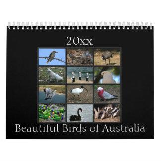 カラフルなオーストラリアの鳥 カレンダー