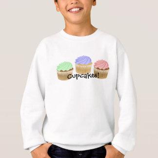 カラフルなカップケーキのスエットシャツ スウェットシャツ