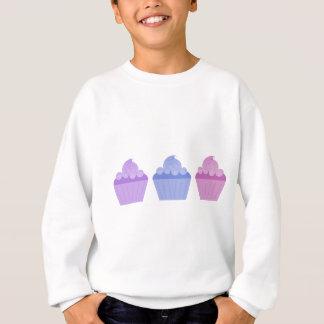 カラフルなカップケーキ スウェットシャツ