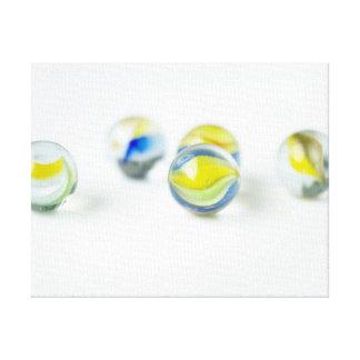 カラフルなガラス大理石 キャンバスプリント