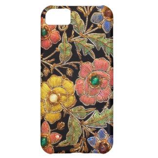 カラフルなガラス玉のヴィンテージの花柄 iPhone5Cケース