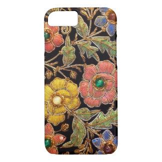 カラフルなガラス玉のヴィンテージの花柄 iPhone 8/7ケース