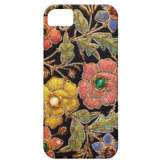 カラフルなガラス玉のヴィンテージの花柄 iPhone SE/5/5s ケース