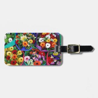 カラフルなガーベラの花の花束 ラゲッジタグ