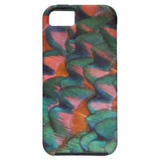 カラフルなキジの羽の抽象芸術 iPhone SE/5/5s ケース