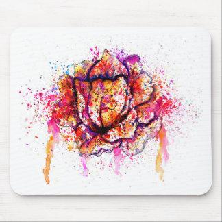 カラフルなキャベツ水彩画 マウスパッド