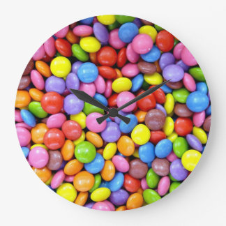 カラフルなキャンデー ラージ壁時計
