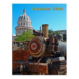 カラフルなキューバ ポストカード