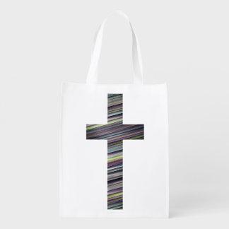 カラフルなキリスト教の十字2 エコバッグ