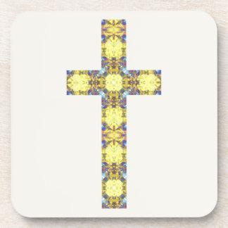 カラフルなキリスト教の十字3 コースター
