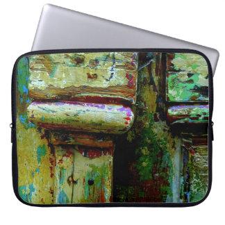 カラフルなギリシャのドアのラップトップの袖 ラップトップスリーブ